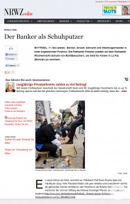 Schuhputzaktion des Rotarier Clubs Rottweil